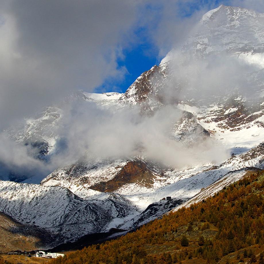 Alplandskap, Saas-dalen, Schweiz.Foto: Mats Wilhelm / Naturfotograferna / IBL Bildbyrå;